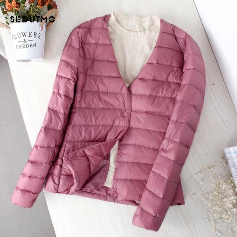 SEDUTMO Winter Plus Size 4XL Duck Down Jacket Ultra Light Coat Short Autumn Slim Casual Puffer Jacket ED836