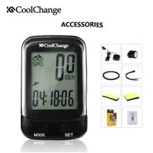 цена на CoolChange Bicycle Computer Multifunction Wireless Waterproof Bike Computer Speedometer Cycling Odometer with LCD Backligh