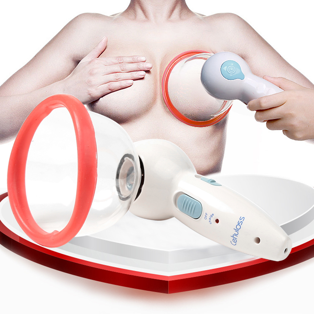 Rechargeable Electric Breast Enhancer Vacuum Pump Cups Enlarge Breast Home Use Enlarger Vacuum Pump Cup Massage CuppingTherapy breast enlarge pump breast massager enhancer large size electric breast enlargement pump with twin cups l3