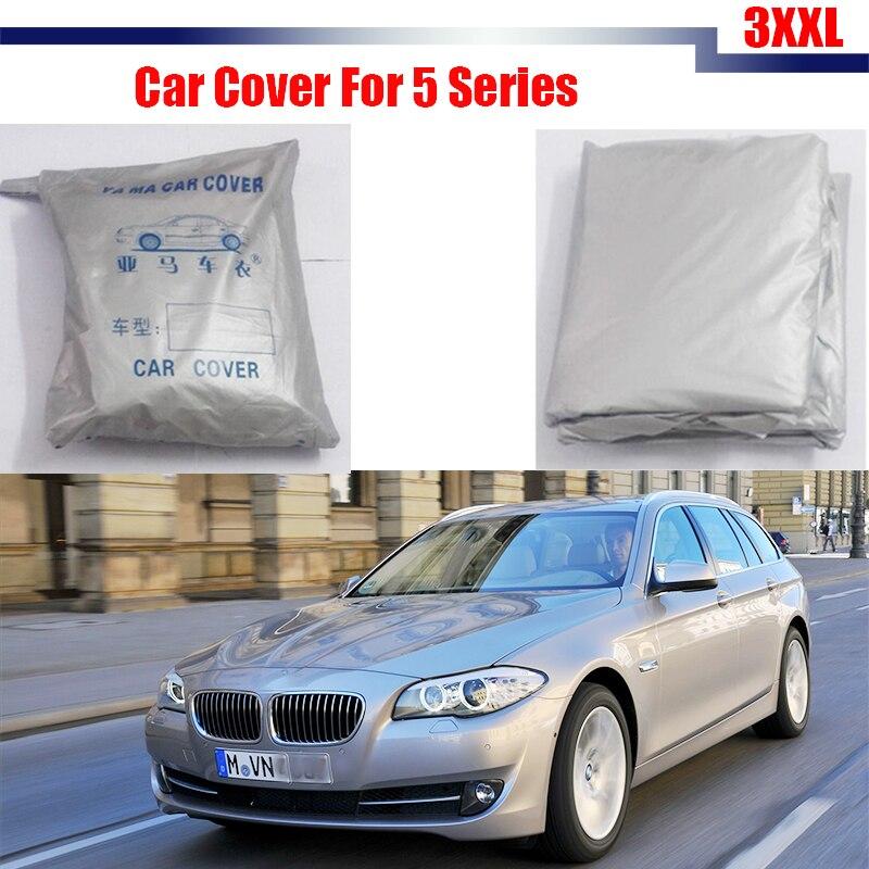 Cawanerl Car Cover Sun Shade Sun Shield Anti UV For BMW 5 Series Rain Sun Snow