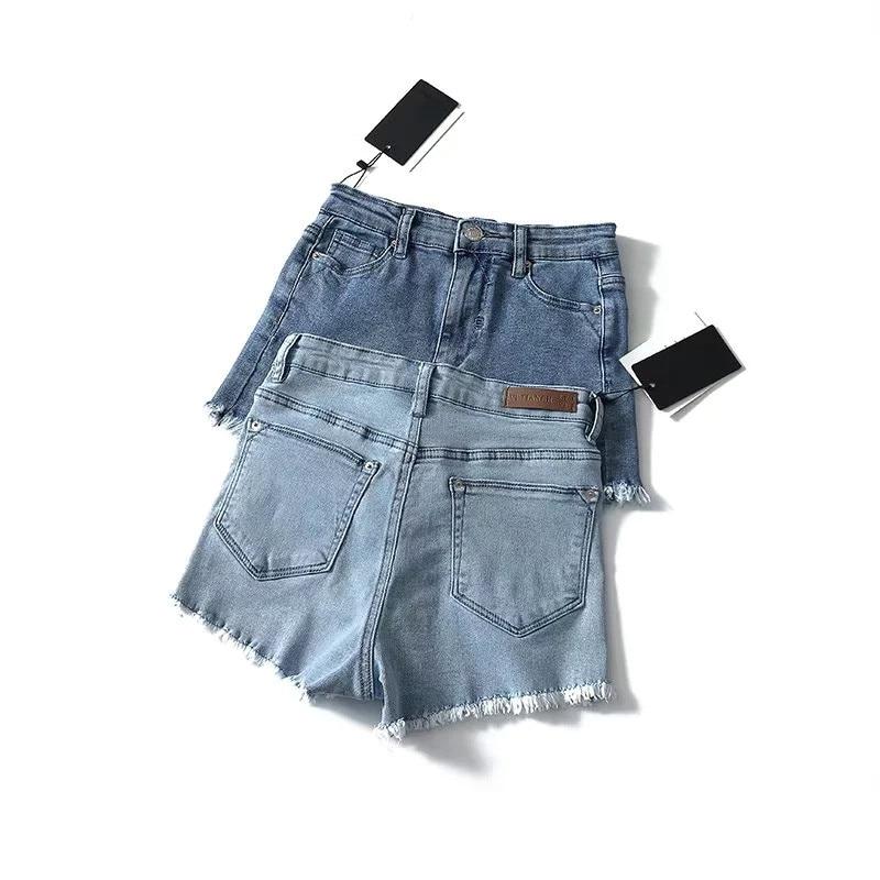 Summer High Waist Denim   Shorts   for Women Sexy Slim Fringe burr Stretch   Shorts   Jeans Women Vintage Denim   Shorts   Jeans Hot   Shorts