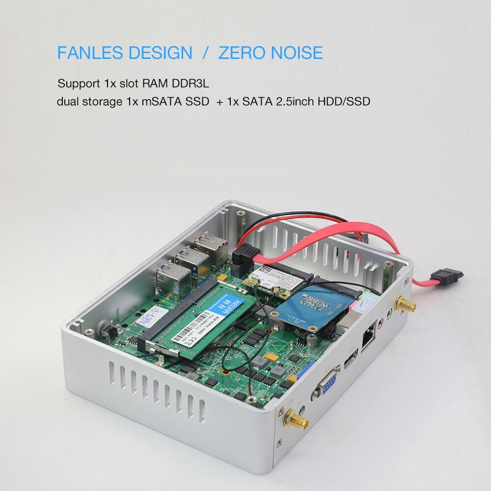 Core i5 7200U i7 5550U Mini PC Windows 10 HDMI VGA dual display port mini HTPC mini-computer i3 7100U 4K TV box pc desktop