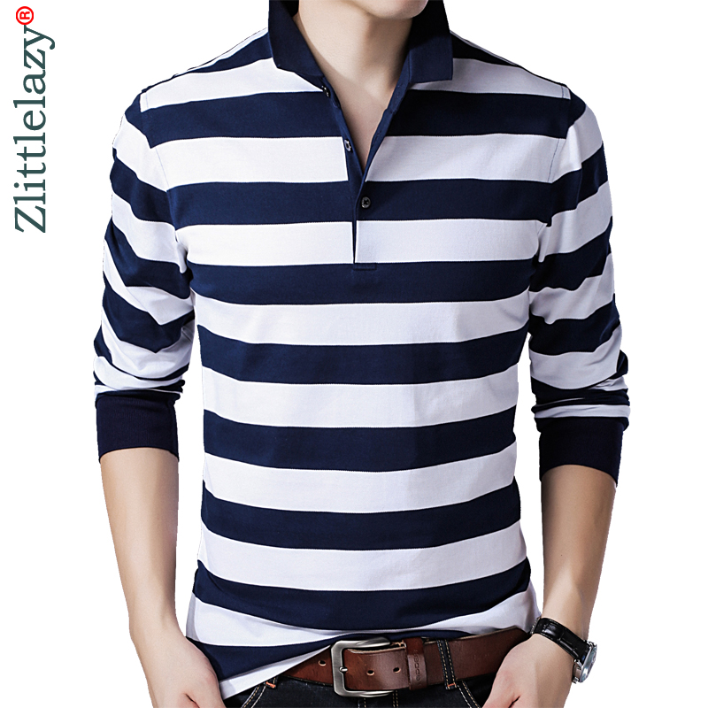 2018 brand casual long sleeve us   polo   tee shirt men classic clothes striped mens   polos   shirts fashions poloshirt jersey 36978