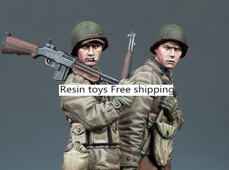 pre order-Resin toys 35171 WW2 US Infantry Set (2 Figures) Free shipping pre order resin toys l0117 us oif soldier at rest free shipping