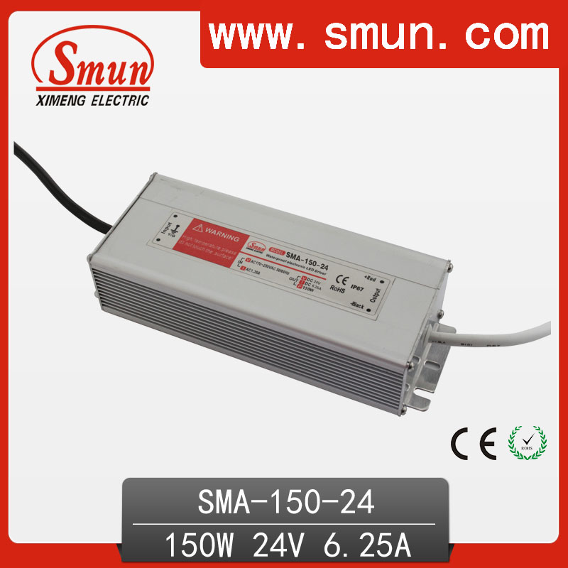 150W12-24A 6A constant current waterproof IP67 LED driver switching power supply for led strip light CE ROHS 1 year warranty 70w led driver dc54v 1 5a high power led driver for flood light street light constant current drive power supply ip65
