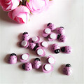 200PCS Pink Yellow Cute Wooden Bees Fridge Magnets Ladybug Insect Sticker Scrapbooking Home Decoration 3D Wall Sticker Toys
