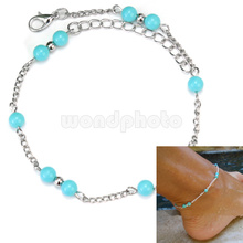 Graceful Women Lady Girls Sexy Plastic Beads Foot Chain Ankle Bracelet Anklet
