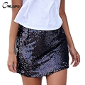 Sexy Bodycon Skirts Women Girls High Waist Sequined Package Hip Mini Skirt 2017 Fashion Femme Vintage A Line Saia falda QZ2000