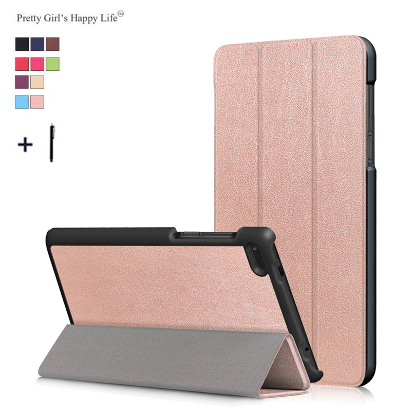 Pretty Girls Happy Life For Lenovo Tab 7 Essential TB-7304F Case Cover For Tab 7 Essential TB-7304F Stand Leather Case+Stylus ободки pretty mania ободок