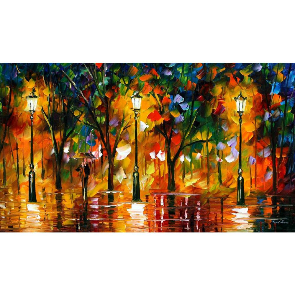 Hand painted Palette knife painting expectation of love oil on canvas modern art Landscape for room decor