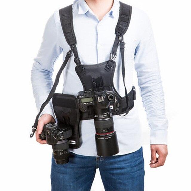 Micnova MQ MSP01 מצלמה אפוד DSLR שנשא חזה רב תכליתי Carrier עם מהיר כפול צד נרתיק רצועה עבור Canon Nikon Sony