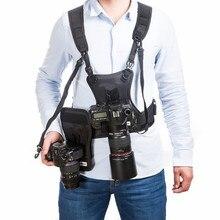 Micnova MQ MSP01 kamizelka na aparat DSLR futerał na klatkę piersiową wielofunkcyjny uchwyt z szybkim dwustronnym futerałem do aparatu Canon Nikon Sony