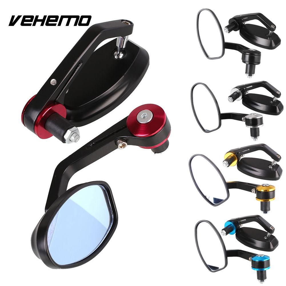 1 Pair Universal Motorcycle Rear Mirrors Rearview Side Handlebar Mirror