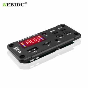 Image 5 - KEBIDU Bluetooth MP3 декодер аудио плата DC 5 в 12 В USB питание TF FM Радио MP3 плеер для автомобиля музыкальный динамик + пульт дистанционного управления