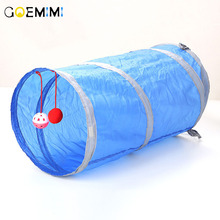 6 Color Funny Pet Cat Tunnel 2 Holes Play Tubes Balls Collapsible Crinkle Kitten Toys Puppy Ferrets Rabbit Dog