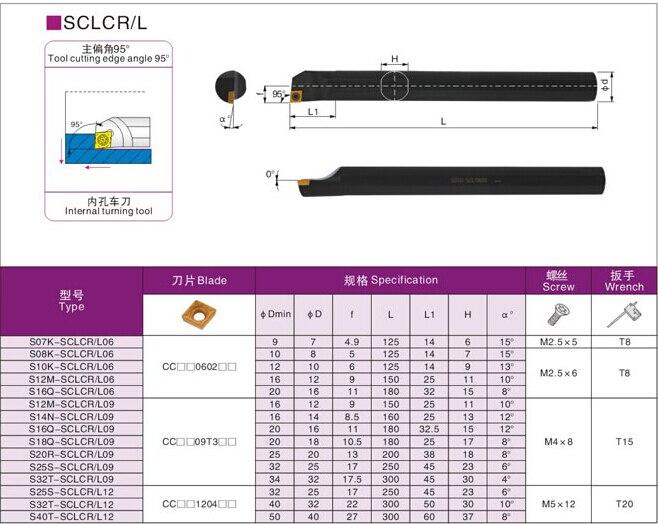 S16Q-SCLCR09/S16Q-SCLCL09 сверлильный брусок, внутренний токарный инструмент, SCLCR/L держатель токарного инструмента с ЧПУ, токарный режущий инструмент, для CCMT09T304/08