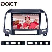 IDOICT Android 8,1 ips 2 г + 32 г 8 ядерный автомобильный dvd-плеер gps навигация Мультимедиа для hyundai Santa FE радио 2006-2012 автомобильный стерео