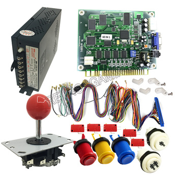 DIY Arcade kits Jamma 60 in 1 game board Classic Arcade Multi game JAMMA PCB Arcade game kit Arcade Joystick фото