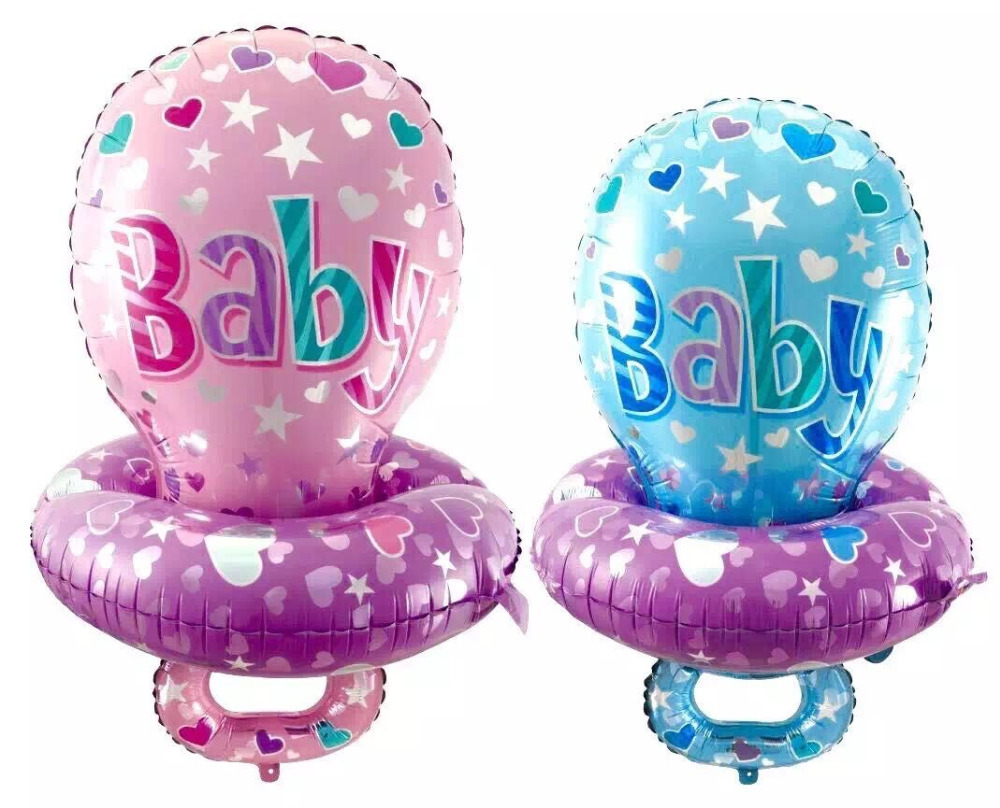 85*52cm Large Baby Pacifier Nipple Foil Balloons for Baby Shower Boy Girl 1st Birthday Layout Party Decoration Balloons