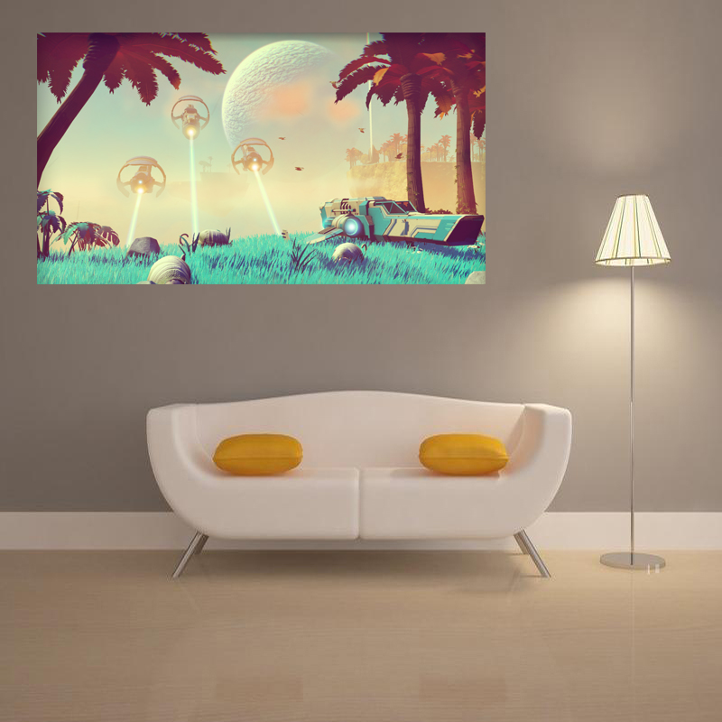 No Man S Sky Fantasy Video Games Bedroom Home Decoration Waterproof Back Glue Paper Wall Sticker Poster