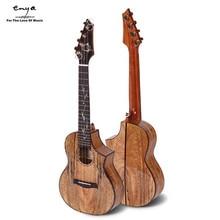 Enya EUC/T-MG6 23 26 Inch Electric guitar head Rosewood inlay shell Tiger-stripe Solid Mangowood Ukulele+Box