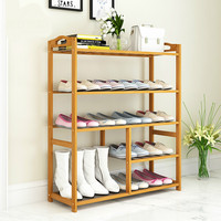 Simple Shoe Rack Large capacity Multi layer Household Multi functional Dormitory Solid Wood Assembled Shoe Cabinet zapatero