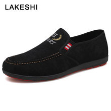 Men Shoes 2019 Summer Men Casual Shoes Slip-on Canvas Shoes Fashion Loafers Men Casual Sneaker Breathable Outdoor Male Shoes(China)