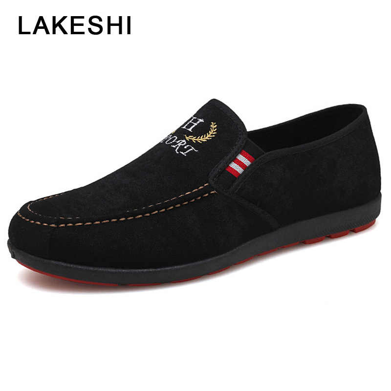 Men Shoes 2019 Summer Men Casual Shoes Slip-on Canvas Shoes Fashion Loafers Men Casual Sneaker Breathable Outdoor Male Shoes