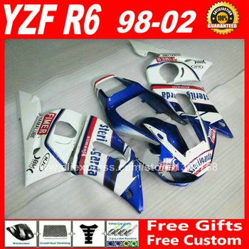 Sterilgarda scheme Fairings set for YAMAHA R6 1998 - 2002 YZFR6 ABS parts kit yzf-r6 98-02 fairing kits YZF 600 1999 2000 2001