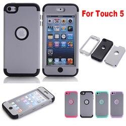 Lucky buy tout nouveau Style hybride 3 en 1 étui en silicone pour ipod touch 5 6 7 5th 6th 7th génération couverture de téléphone portable à impact élevé