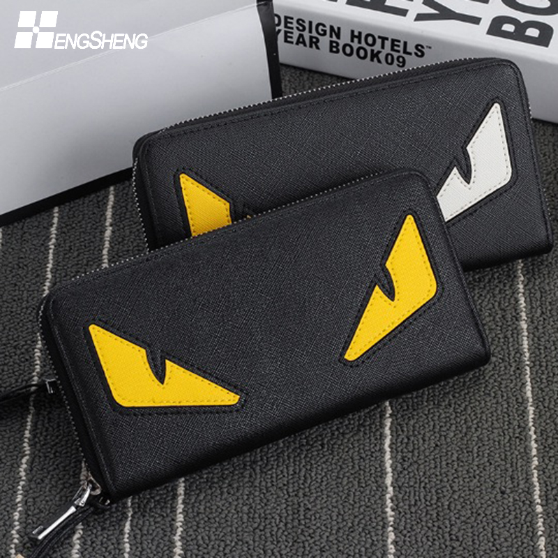 HENGSHENG Men Wallets PU Leather Men Purse Fashion Wallet Clutch Bag Long Male Wallet Hand Bag Card Holder carteira Coin Purses мужские часы casio w 59b 2a