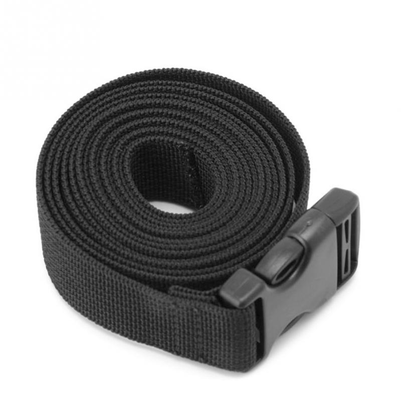 0.5~3M Black Durable Nylon Cargo Tie Down Luggage Lash Belt Strap With Cam Buckle Wholesale Travel Kits Outdoor Camping Tool
