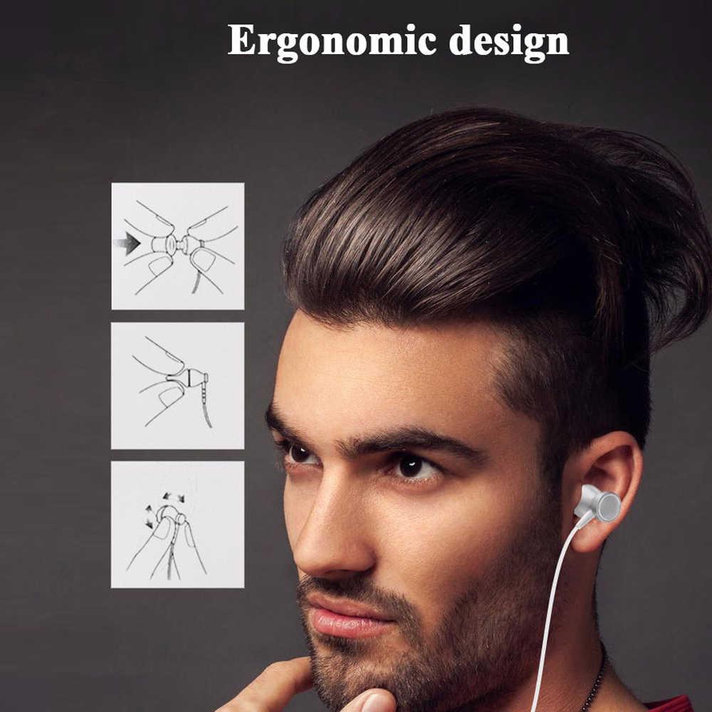 スポーツ低音イヤホン電話ヘッドセット制御磁気透明度ステレオサウンドヘッドホンとイヤホン Iphone の携帯電話