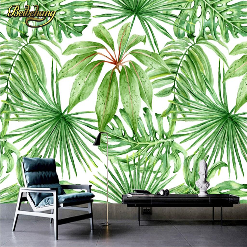 beibehang Banana leafy plants Wallpaper for Living Room Bedroom Mural Wall papers 3D Desktop Background home decor papier peint