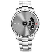 Paidu reloj para hombre relogio masculino 2017 de la alta calidad de lujo de diseño de reloj de cuarzo de acero inoxidable reloj de hombre erkek kol saati