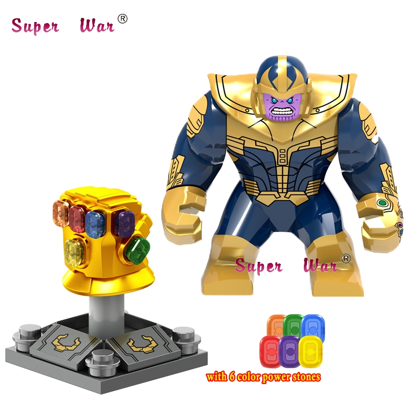 50pcs Marvel Avengers 3 Infinity War Infinity Gauntlet With Stones Thanos Iron Man Vision Wasp building block for children toys