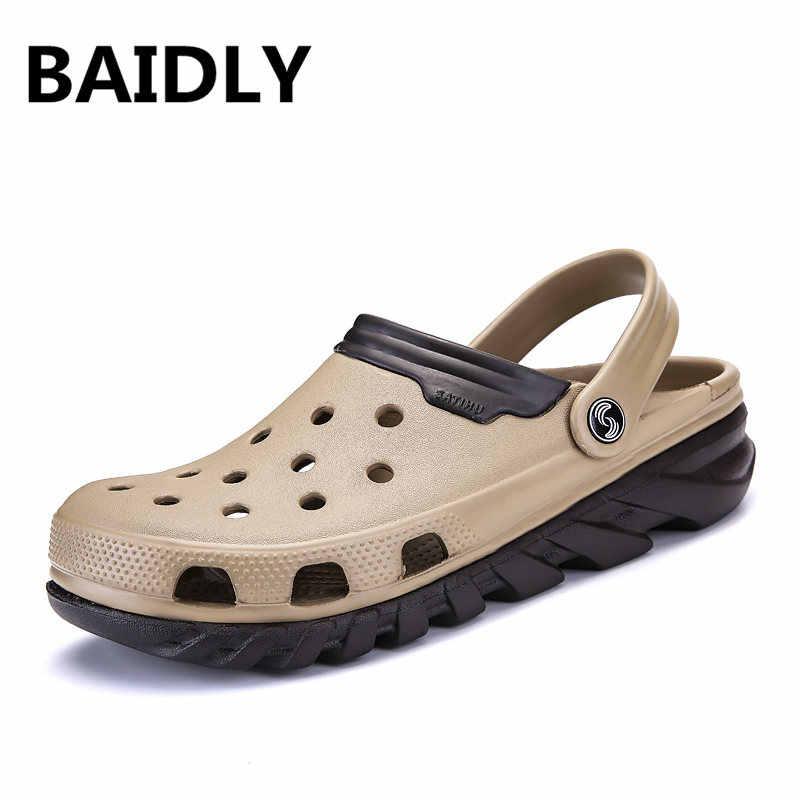 Balay/мужские сандалии высокого качества; мужские повседневные сандалии на деревянной подошве; мужские летние сандалии; пляжные шлепанцы; большие размеры 46