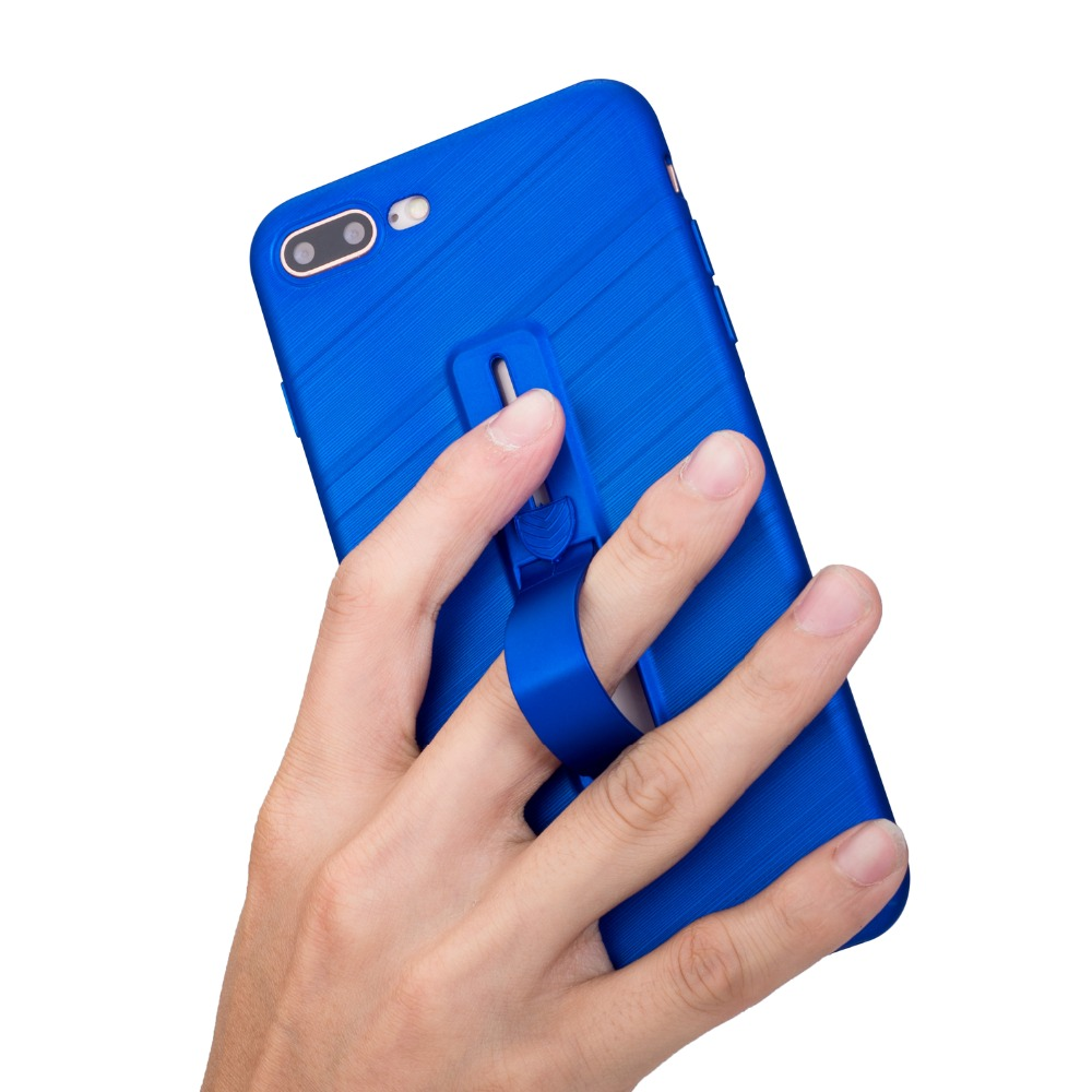 Stand Soft Silicone Matte TPU Case For iPhone iPhine 6 6S 7 8 Plus X 10 Buckle Phone Cover ShellS Finger Ring Blue Rose Gold
