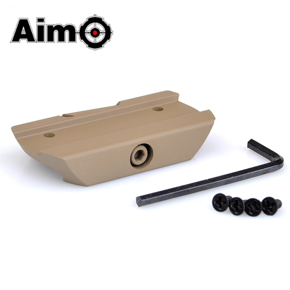 Aim-O Airsoft Low Mount For T1/T2 Black / Dark Earth Aluminum TARGET TR02 Red Dot Tactical Scope Mounts AO1708 Hunting Accessory image