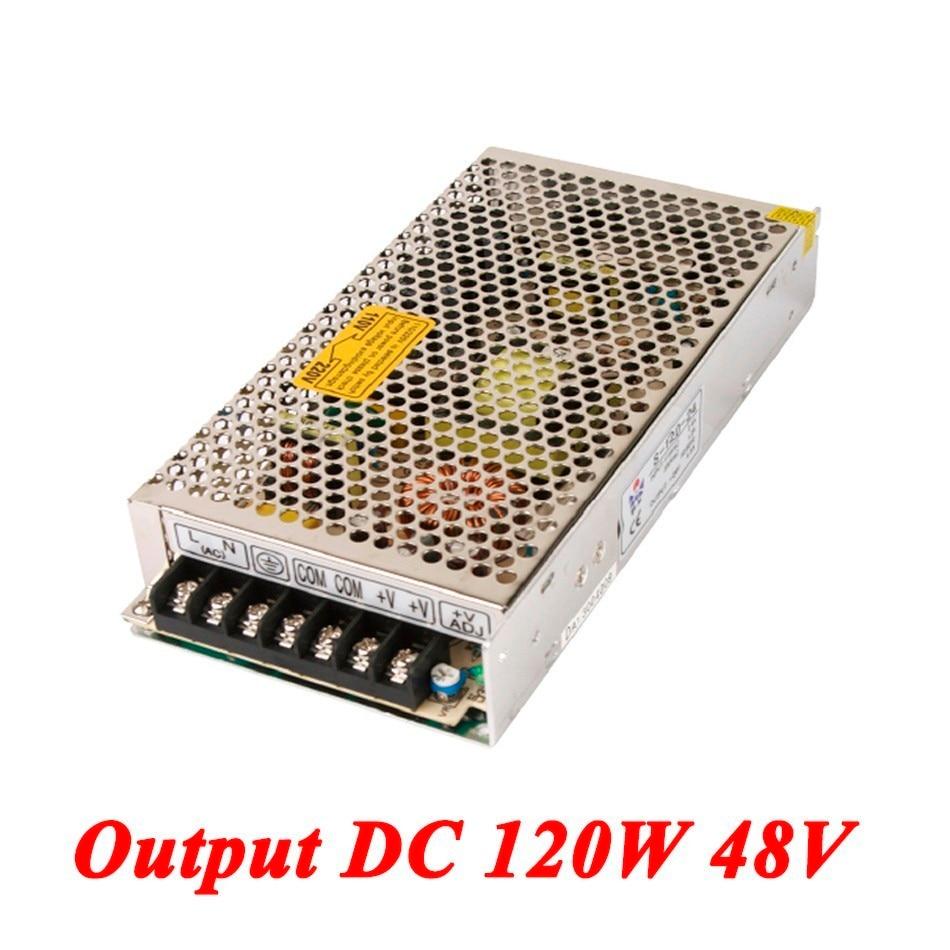 switching power supply 120W 48v 2.5A,Single Output voltage converter for Led Strip,AC110V/220V Transformer to DC 48V 1200w 48v adjustable 220v input single output switching power supply for led strip light ac to dc
