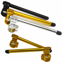 2pcs Universal Moto Racing Adjustable CNC 31 33 35 36 37mm Clip On Ons Riser Fork
