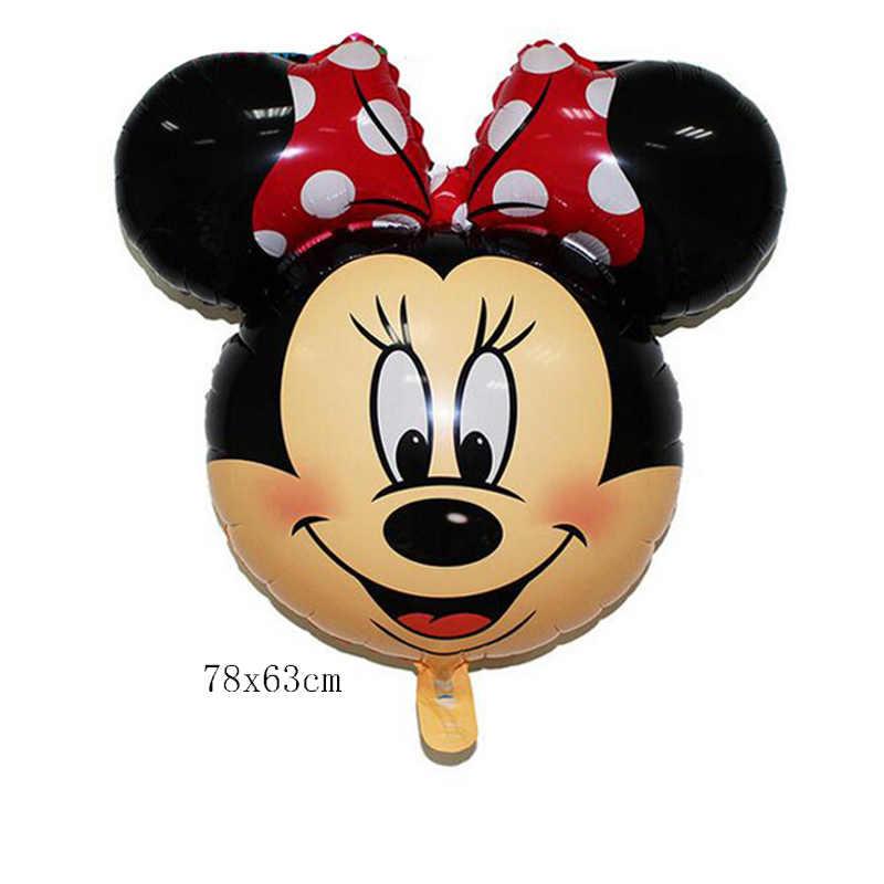 1 pc מיקי מיני מאוס רדיד בלון שמח מסיבת יום הולדת קישוט מיני מיקי ראש בינוני מיקי ראש בלון ילדים של צעצועים