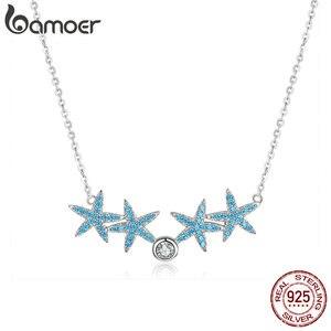 Image 4 - Bamoer Ocean Blue Starfish สร้อยคอต่างหูชุดเครื่องประดับแท้ 925 เงินสเตอร์ลิง AAA Zirconia หินเครื่องประดับ ZHS118