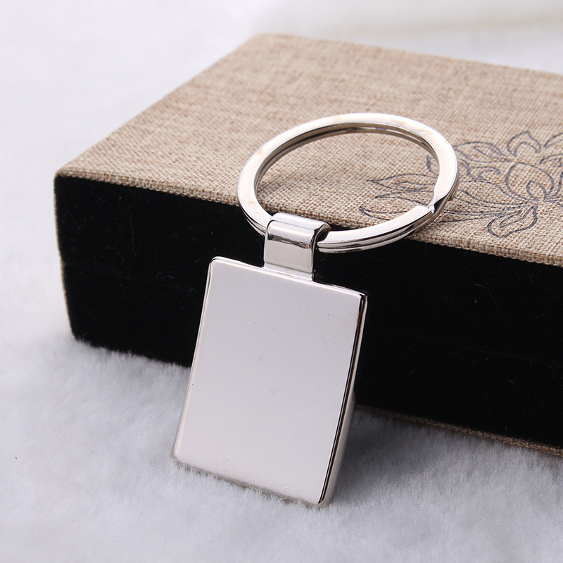 Promotional Advertising Logo Square Keychain Laser Lettering Business Cards Keyring Single Two Dimensional Code In Key Chains From Jewelry Accessories On