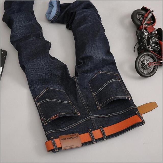 LensTid 2017 Jussara Lee Classic Straight Denim Jeans Hombres Casuales Pantalones de Mezclilla de diseñador de Marca Famosa de Alta Calidad Más El Tamaño 40 2105