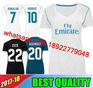 d2224ca2c 17 18 Real Madrids women soccer jersey RONALDO BALE KROOS SERGIO RAMOS  MODRIC ISCO NAVAS ASENSIO MARCELO woman football shirts