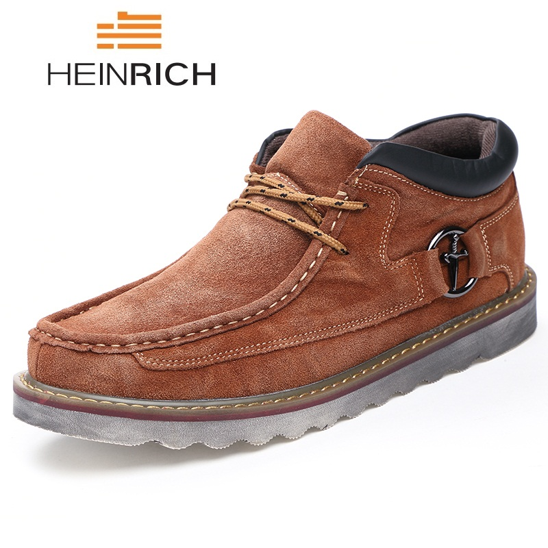 Genuíno Trabalho De Securite dark Masculino Chaussure Travail Marca Ankle Homens Couro light Blue Casuais Boots Neve Segurança 2018 blue Brown Sapatos Brown light amp; Heinrich Dos Brown Brown Botas dark OqAX00