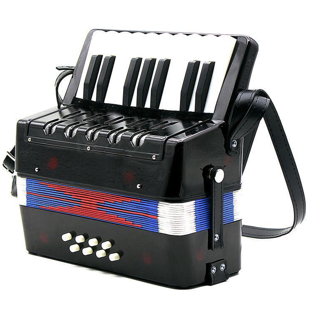 17 Key 8 Bass Mini Accordion Musical Toy for Educational Musical Instrument Simulation Learning Concertina Rhythm Band for Kids