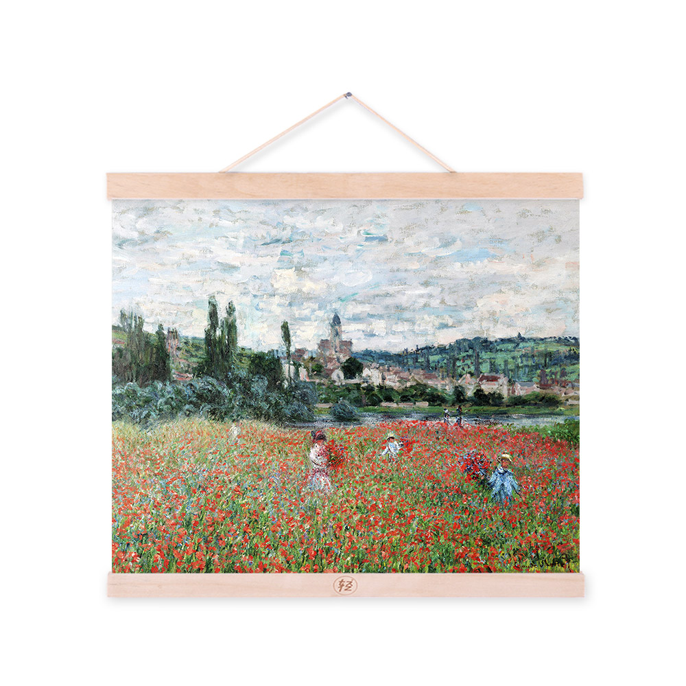Field Claude Monet Impressionism Flowers Abstract Landscape Tree Poster Gifts Cottage Bedroom Wall Art Decor Canvas Oil Painting