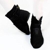 Foxtrot High Magic ButtonBoots Shoes For Men And Women Dance Jazz Canvas Boots Male Shoes Modern